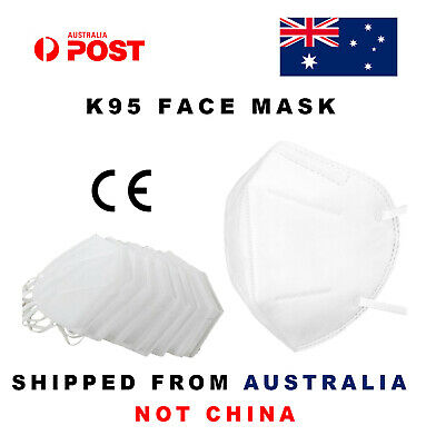 AU19.90 • Buy 10 X KN95 Face Mask N95 P2 Particulate Respirator CE 6 PLY Medical Surgical AU