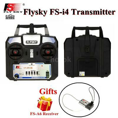 New FS-i4 AFHDS 2A 2.4GHz 4CH Radio Transmitter & FS-A6 Receiver For RC S7C2 • 28.68£
