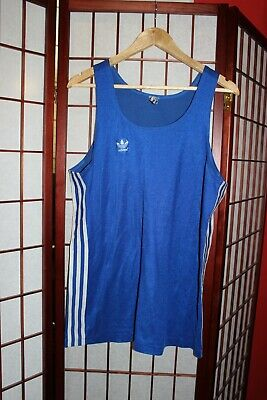 Adidas 70's Vintage Blue Vest Size M Made In West Germany . ALY • 40£