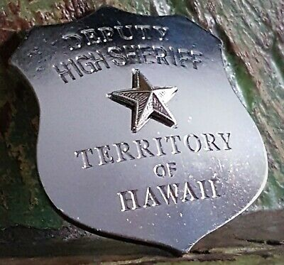 Obsolate Historical Usa Police Badge ....Deputy High Sheriff Territory Of HAWAII • 24.99£