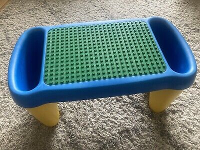 Duplo Lego Play Table 3125 With Storage Sections Fixed Base 24x16 Studs On Top • 20£