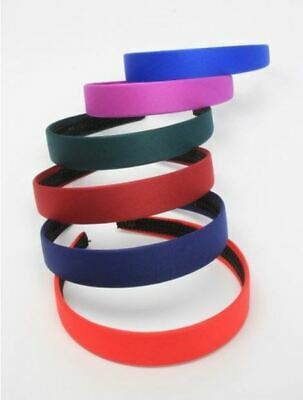 £2.89 • Buy Girls Childrens 2.5cm Wide Hair Band Alice Band School Colours Green Navy Red