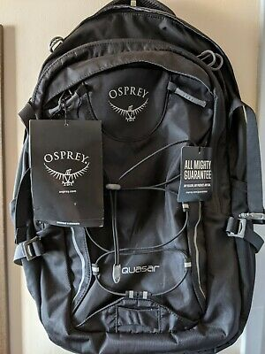 $65 • Buy NWT Osprey Quasar 28L Black Backpack Daypack Commnuter