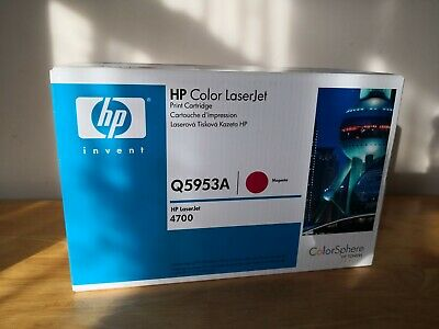 HP Genuine Q5953A Magenta Toner Cartridge Laserjet 4700 Sealed New • 120£