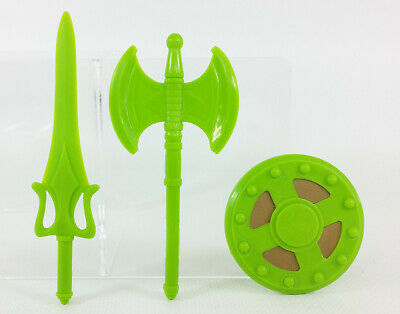 $19.99 • Buy Masters Of The Universe Classics End Wars Weapons He-man Green Sword Axe Shield