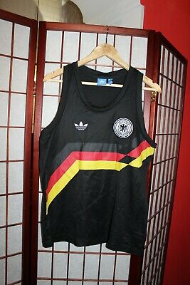 Germany Team 80's 90's  Style Football Vest By Adidas Size S. ALY • 25£
