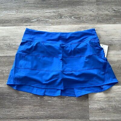 $ CDN97.85 • Buy Lululemon Pace Rival Skirt II Women's Size 10 Tall Wild Bluebell WDBL NWT