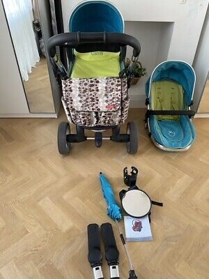 ICandy Peach Sweet Pea Buggy Pushchair Accessories & Extras Carry Cot, Maxi Cosi • 180£