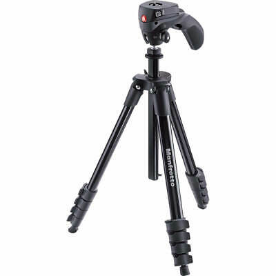 AU129.95 • Buy Manfrotto Compact Action - Black Tripod With Joystick Head & Carry Bag