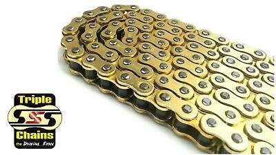 AU119.95 • Buy Triple S 530 O-ring Motorcycle Chain 114 Links Road Street Dirt Off Road Mx Gold