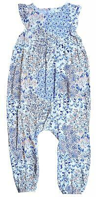 £7.99 • Buy Girls Floral Paisley All In One Dungaree Playsuit Jumpsuit 12 Months To 7 Years
