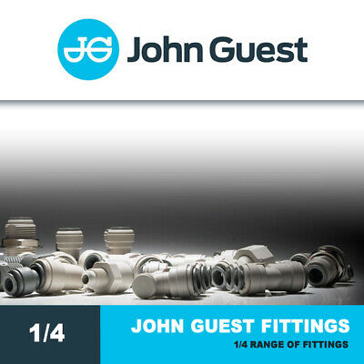John Guest Fittings 1/4  Push Fit Fittings - Water, RO, Brewery, Drinks Dispense • 4.85£