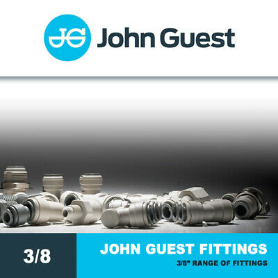 John Guest Fittings 3/8  Push Fit Fittings - Water, RO, Brewery, Drinks Dispense • 3.35£