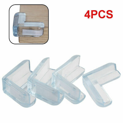 £2.49 • Buy 4pcs Corner Protectors Guards Clear Adhesive Table Furniture For Baby Kids Child