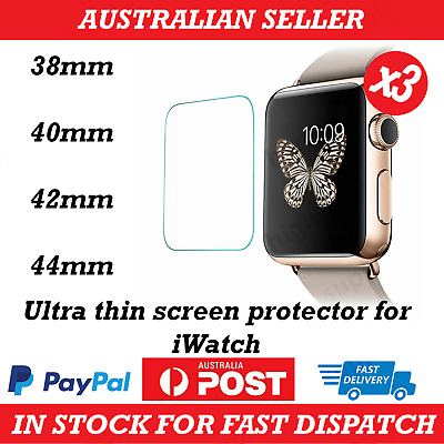 AU6.89 • Buy Apple Watch 1/2/3/4/5/6/SE Ultra Thin Screen Protector IWatch 38/42/40/44mm