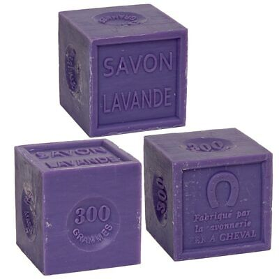 Savon De Marseille 3 X 300g - French Soap Cubes Made With Essential Lavender Oil • 13.95£