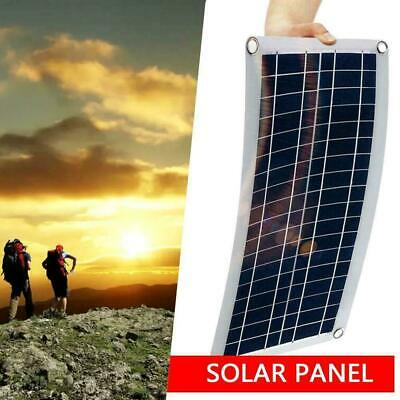 30W 12V Dual USB Flexible Solar Panel Battery Charger Controller Kit No Car H5R1 • 15.21£