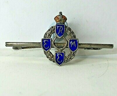 WW2 REME Royal Electrical  Mechanical Engineers Sweetheart Brooch Plated 47x23mm • 17£
