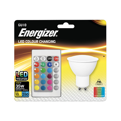 £9.98 • Buy Energizer Colour Changing Gu10 Led Rgb+w With Remote Control