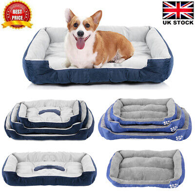 Large Dog Bed Pet Cushion Beds House Soft Warm Kennel Blanket Nest Washable C5X2 • 14.99£
