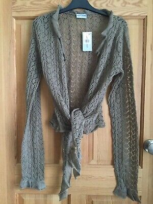 £5.99 • Buy NEW Primark Ladies Brown Taupe Mohair Mix Knitted Shrug Bolero Top Sz 12-14