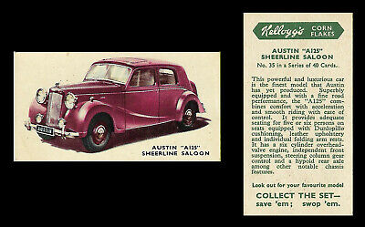 Kellogg - Motor Cars (coloured) - Card #35 - Austin  A125  Sheerline  - 1949 • 1.55£