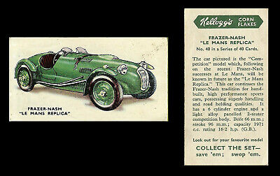 Kellogg - Motor Cars (coloured) - Card #40 - Frazer Nash  Le Mans  - 1949 • 1.55£