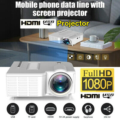 Mini HD 1080P LED Projector Home Theater Cinema Multimedia AV USB  • 25.88£