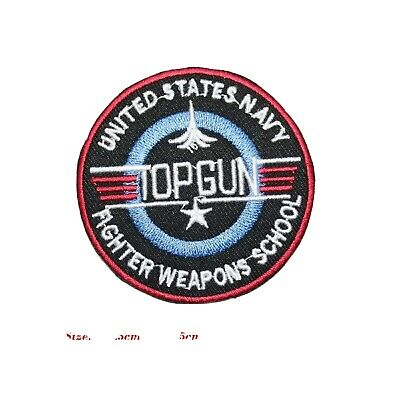 £2.49 • Buy Top Gun Usa Navy Army Super Hero Iron / Sew On Patches Embroidered Badge