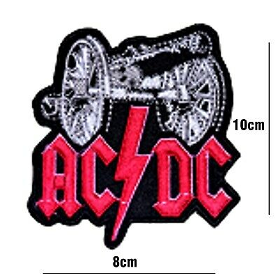 £2.59 • Buy Ac Dc MUSIC BAND LARGE RED PATCH  EMBROIDERED IRON OR SEW ON BADGE LOGO