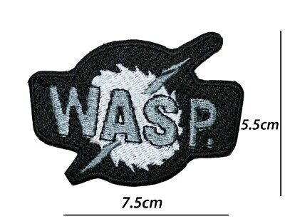 £2.49 • Buy Wasp Heavy Metal Rock Music Band Patch Iron Or Sew On Embroidered Badge Logo