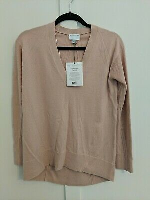 AU25 • Buy Brand New WITCHERY Blush Pink Cotton, Wool, Cashmere Blend Jumper Sweater
