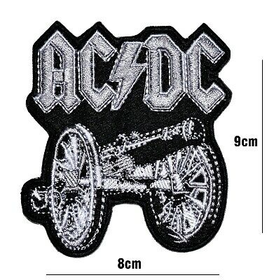 £2.59 • Buy Ac Dc MUSIC BAND LARGE PATCH EMBROIDERED IRON OR SEW ON BADGE LOGO