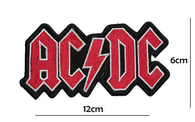 £2.59 • Buy Ac Dc Music Band Patch EMBROIDERED Iron On Sew On Badge Logo