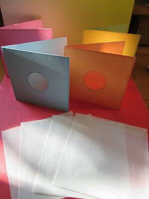 £1.50 • Buy 4x Coloured Die Cut Window Card Blanks For Card Making With Vellum Envelopes
