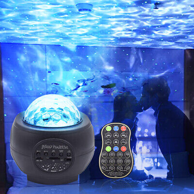 USB Galaxy Star Night Lamp LED Starry Sky Projector Light With Ocean Wave Music • 17.99£