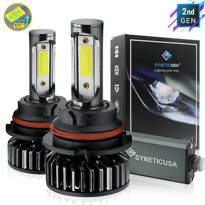 $32.39 • Buy Syneticusa 9007 LED Headlight Bulbs Kit 6000K White High Low Beam Light Bulb