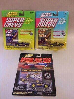$9.99 • Buy (3) Johnny Lightning 1998 CORVETTE CONVERTIBLE INDY PACE CAR