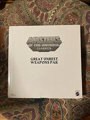 $26 • Buy Masters Of The Universe Classics MOTUC - GREAT UNREST WEAPONS PaK