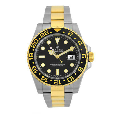 $ CDN18565.37 • Buy ROLEX Steel & 18K Yellow Gold 40mm Ceramic GMT Master II 116713 Box Warranty2017
