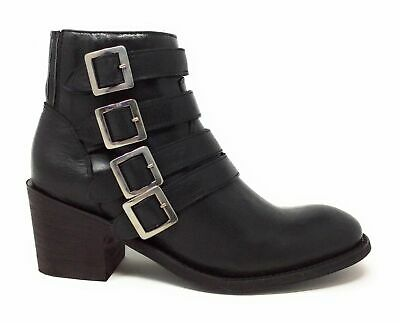 Five World By Cordani Womens Sancho Buckled Western Ankle Boot Black Leather 5 M • 49.58£
