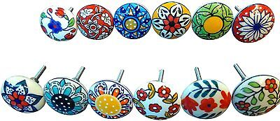 Mix Vintage Look Flower Ceramic Knobs Door Handle Cabinet Drawer Cupboard Pull • 21.99£
