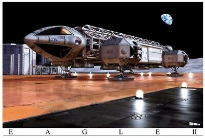 $50 • Buy Space 1999 CGI Poster Eagle Ll On Launchpad (Big 39.5  X 27 )