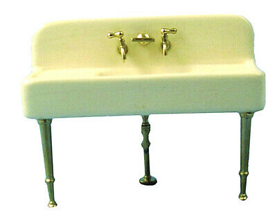 Dolls House Porcelain Sink 12th Scale Traditional Sink DF907 • 9.99£