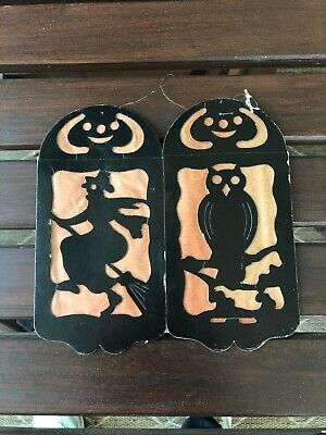 $ CDN66.04 • Buy  Vintage 1930s Halloween Diecut Witch Owl JOL Luminary Likely Germany App. 8+4
