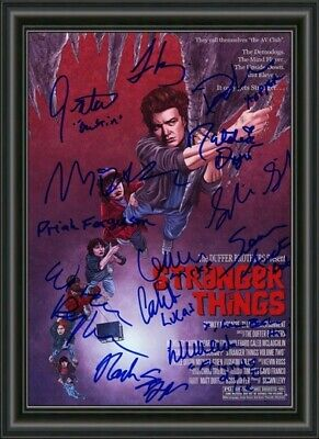 AU9.95 • Buy Stranger Things  Movie Photo Poster Signed By Cast  - A4 Photo Poster