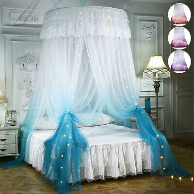 Lace Princess Bed Canopy Dome Bedcover Mosquito Net Insect Fly Protect Curtain • 21.49£