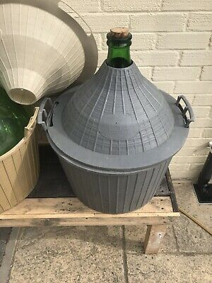Two Glass Wine Fermenter 54L Plastic Basket Carboy Demijohns In Lowestoft • 135£
