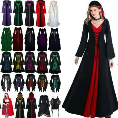 AU19.59 • Buy Women Vintage Halloween Christmas Party Costume Gothic Witch Dresses Fancy Dress