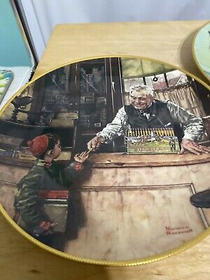 $ CDN12.64 • Buy Lot Of 2 Norman Rockwell 1990 Plates Home From Camp Back To School